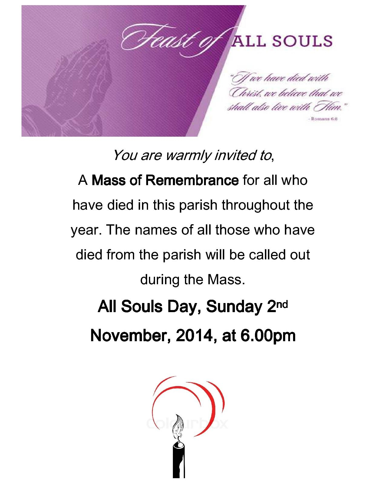 mass of remembrance 2014 new1